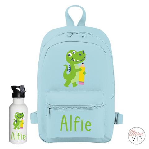 Personalised School Dinosaur Mini Back Pack - other bag colour options