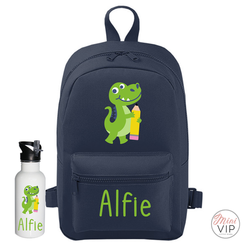 Image of Personalised School Dinosaur Mini Back Pack - other bag colour options
