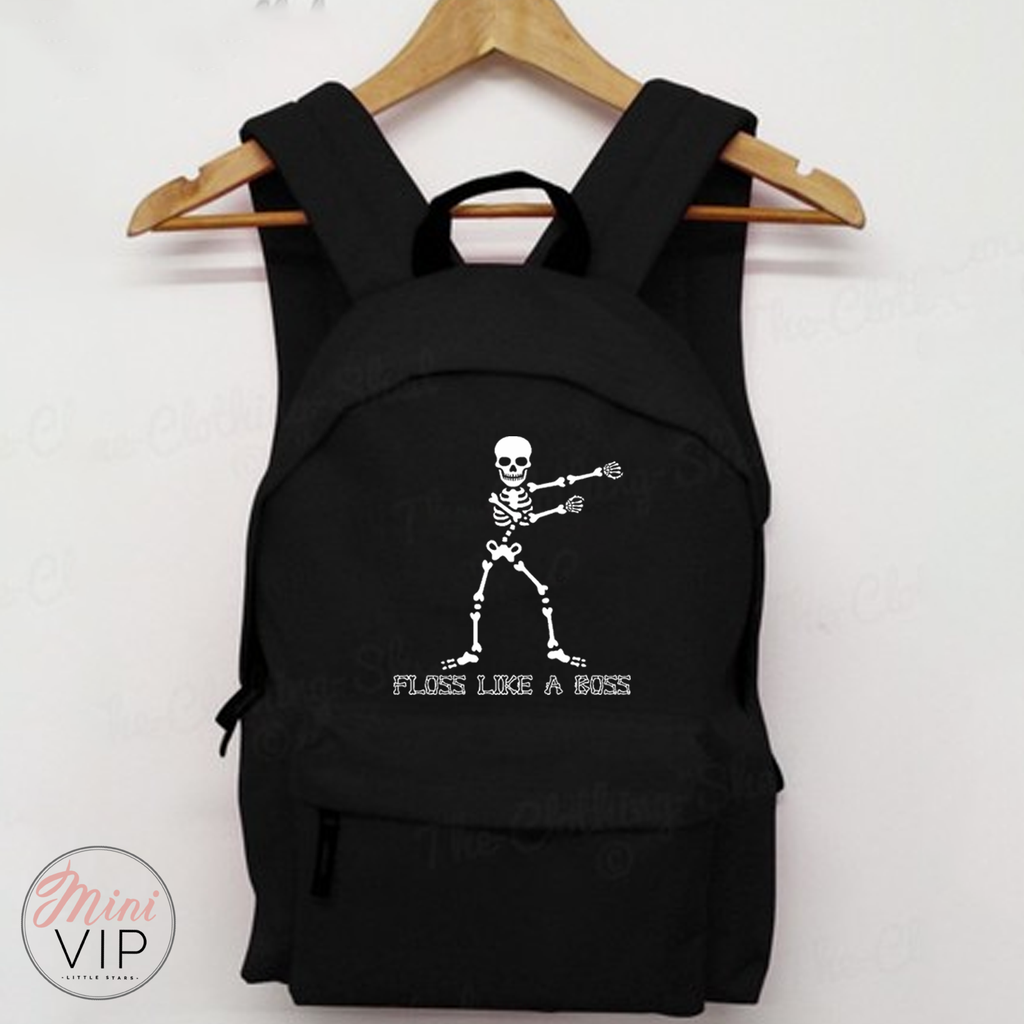 Floss Like A Boss Skeleton Black Bag - Back to School