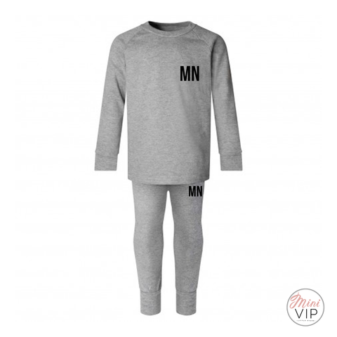 Personalise your own Grey Cotton Lounge Suit