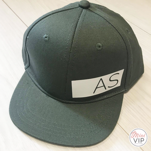 Personalised Khaki/White Stripe Snap Back Cap - 3 different size options