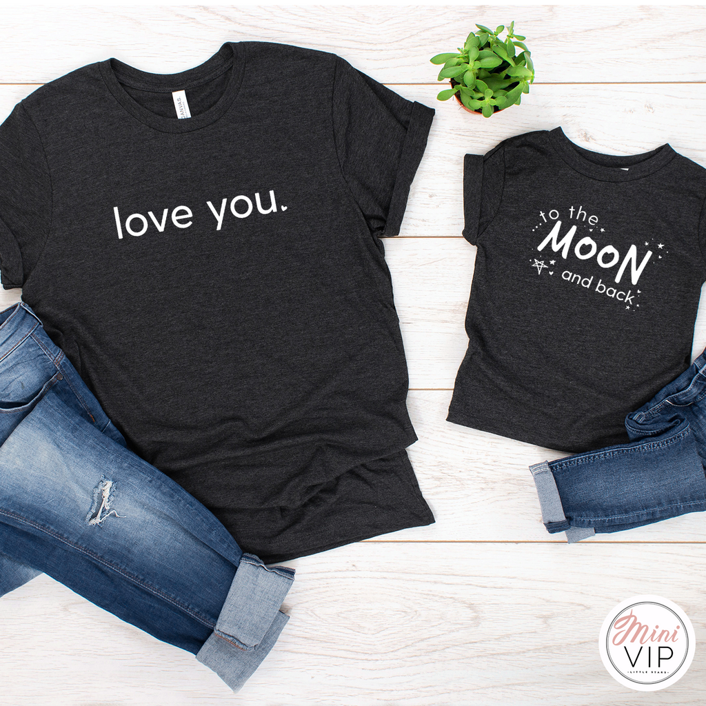 Love You - To the Moon and Back Twinning T-Shirts