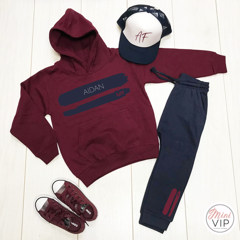 Image of MV originals Paint joggers & hoodie/t-shirt set - Personalised