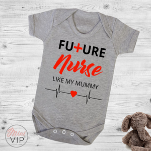 Future Nurse Just Like Mummy bodysuit