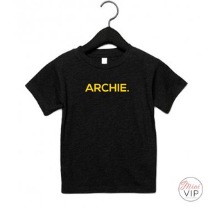 Personalised Black/Yellow Name t-shirt