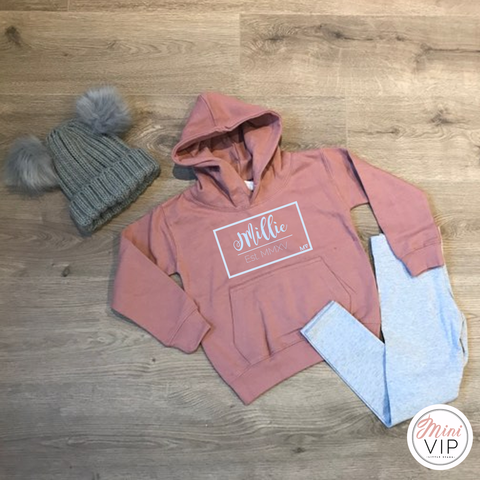 Personalised Dusty Pink Tracksuit Lounge Set - leggings & hoodie