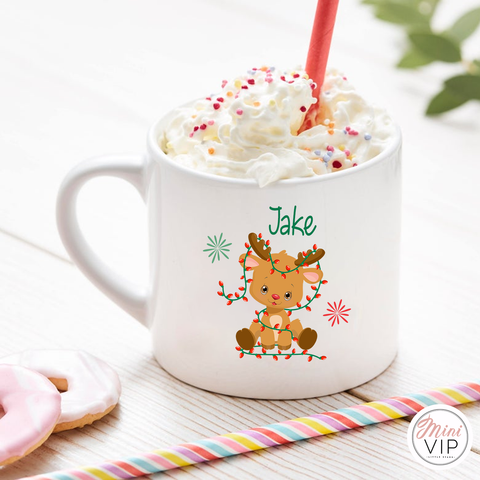 Personalised Children's Christmas Reindeer Mug