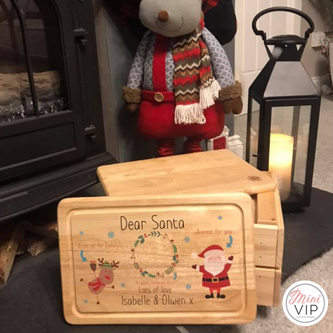 Image of Personalised Santa Board - Christmas Eve