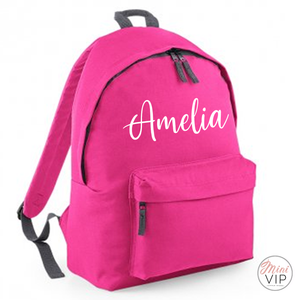 Personalised Script Name Bag - other back pack colour options