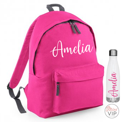 Image of Personalised Script Name Bag - other back pack colour options