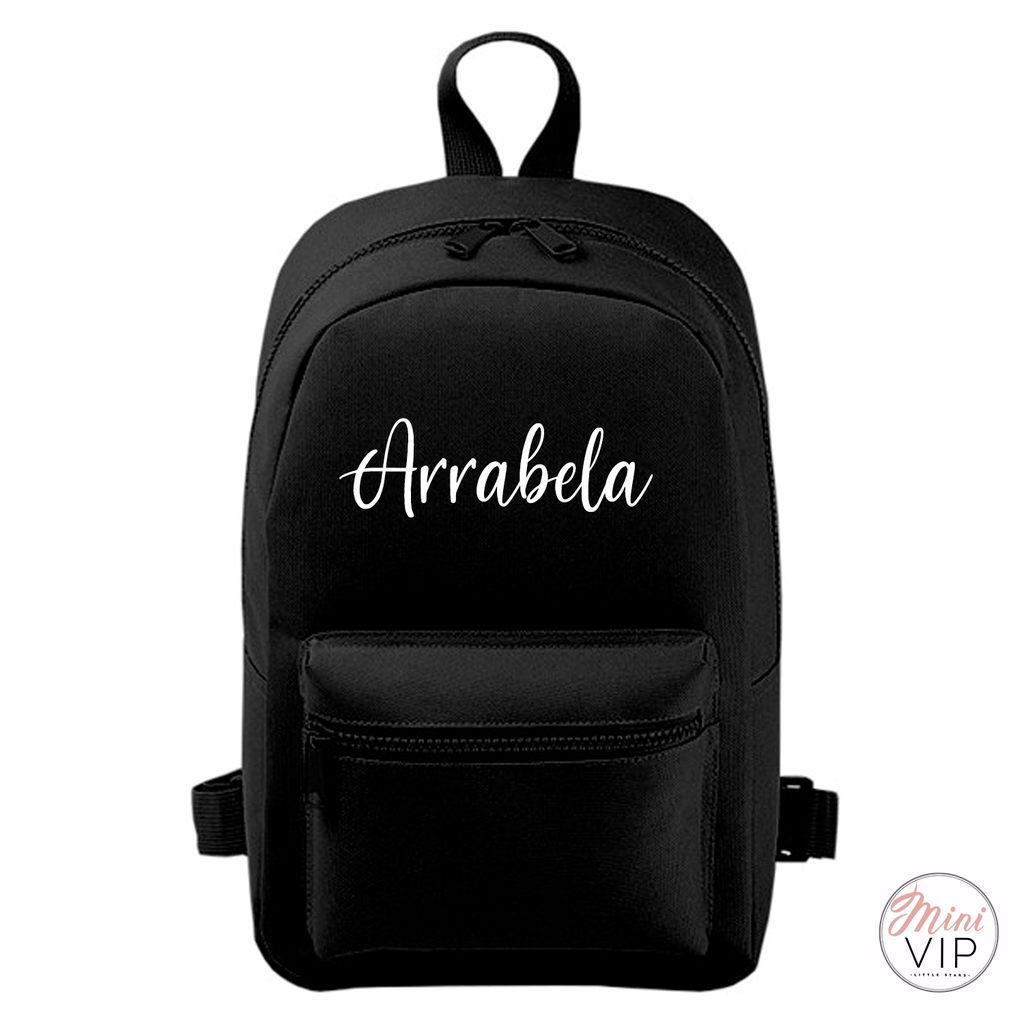 Personalised Script Name Mini Back Pack - other bag colour options