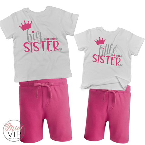 Little Sister, Big Sister - shorts & t-shirt Twinning Set!