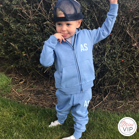 Image of Blue Hues Spring/Summer Tracksuit Set