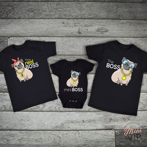 Mini Boss - Pug Baby/Kids Sizes