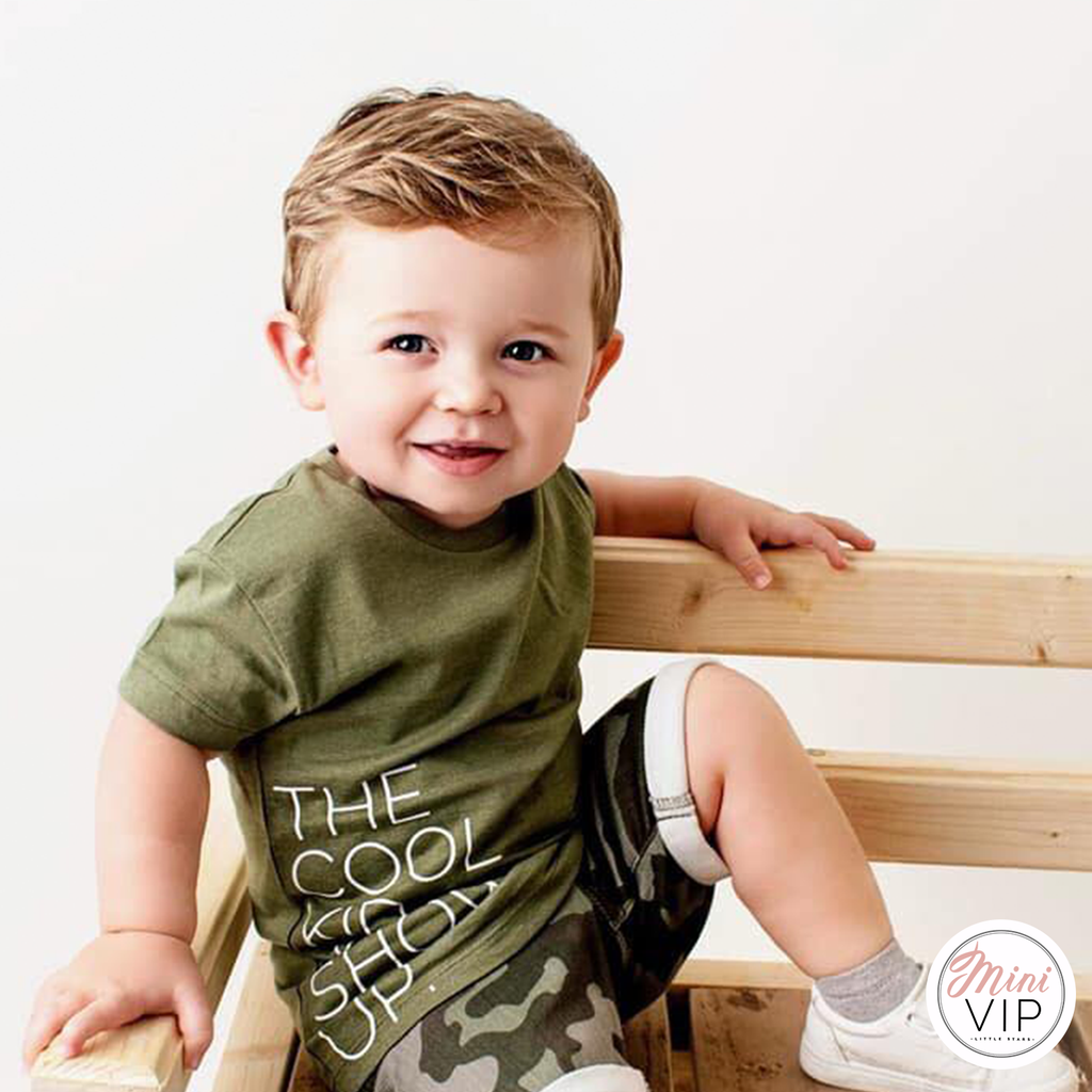 The Cool Kid just showed up khaki t-shirt