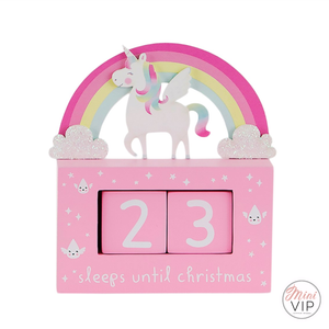 Unicorn Christmas Countdown Decoration