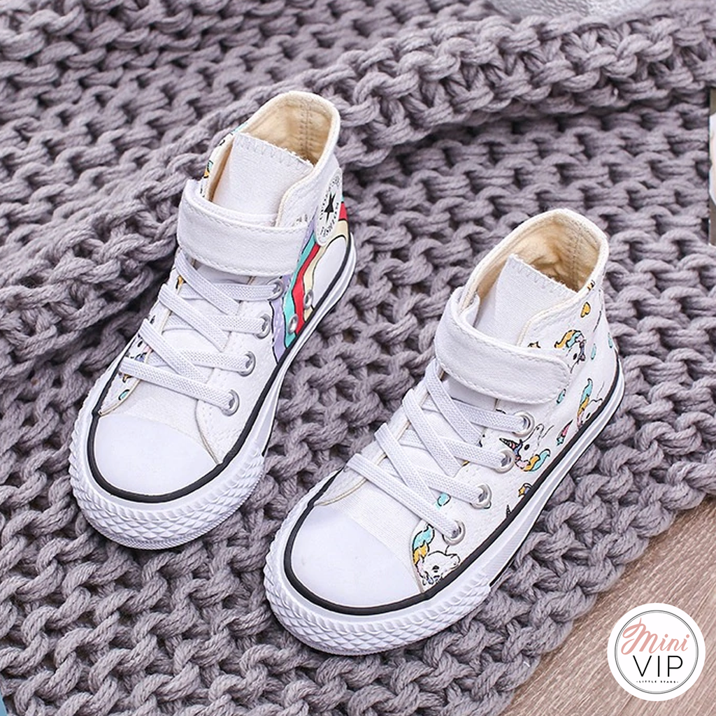 Unicorn Hi-Top Canvas Trainers