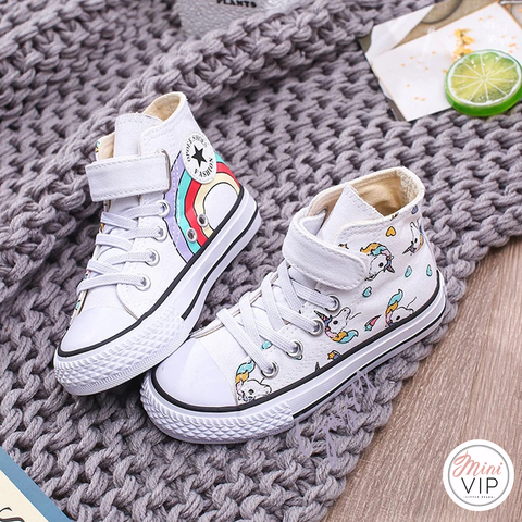 Image of Unicorn Hi-Top Canvas Trainers