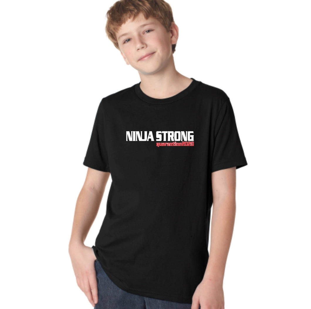 Ninja Strong Quarantine 2020  Youth Short-Sleeve Unisex T-Shirt