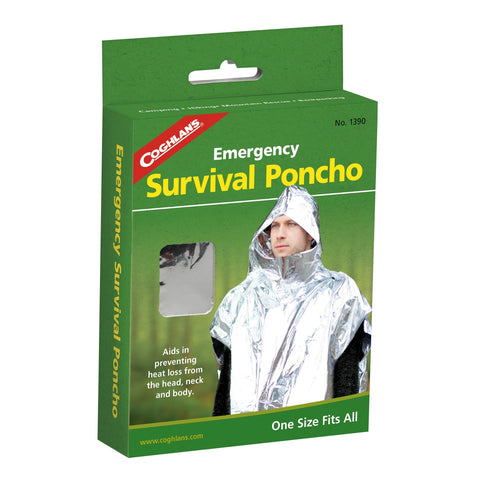 Survival Nerdz - Emergency Survival Poncho, Clothing & Apparel,Coghlans