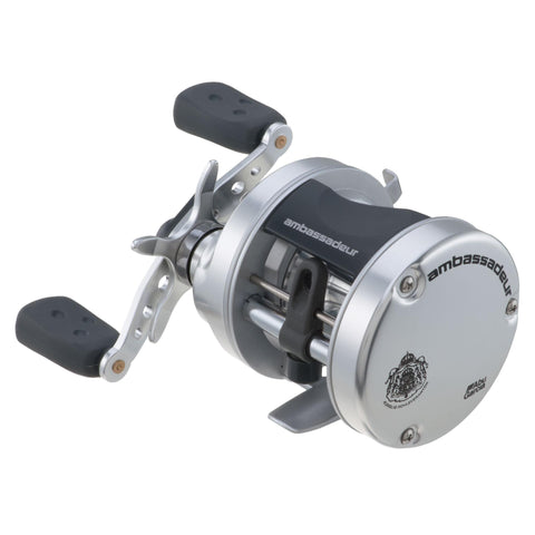 "Survival Nerdz - Ambassadeur S Round Baitcast Reel - 6500, 5.1:1 Gear Ratio, 2 Bearings, 25"" Retrieve Rate, 11 lb Max Drag, RH, Fishing,Abu Garcia"