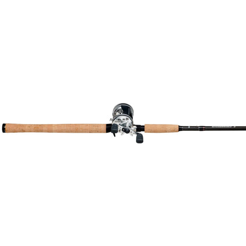 "Survival Nerdz - Ambassadeur S Casting Combo - 6500, 5.1:1 Gear Ratio, 11 lb Max Drag, 8'6"" 2pc Rod, Medium-Heavy Power, RH, Fishing,Abu Garcia"
