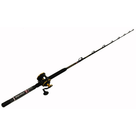 "Survival Nerdz - Squall Level Wind Conventional Combo - 30, 4.9:1 Gear Ratio, 6'6"" Length 1pc Rod, 20-50 lb Max Drag, Medium-Heavy Power, Fishing,Penn"