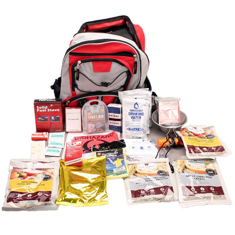 Survival Nerdz - Survival Backpack - 5 Days, Red, Food and Food Processing,Wise Foods