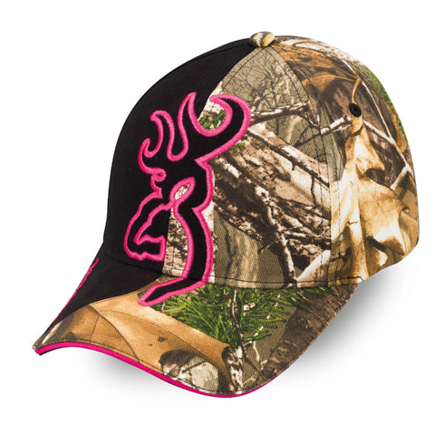 Survival Nerdz - Cap - Big Buckmark Cap, Realtree Xtra-Fuchsia, Clothing & Apparel,Browning