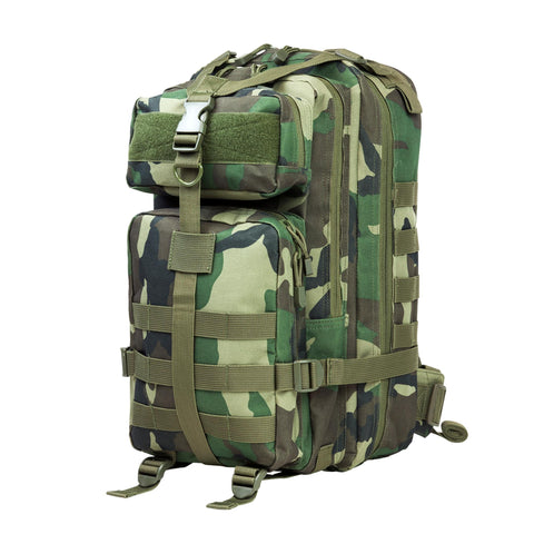 Survival Nerdz - Small Backpack - Woodland Camo, Backpacks,NcStar