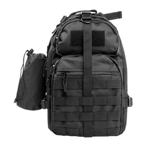Survival Nerdz - Small Backpack-Mono Strap - Black, Backpacks,NcStar