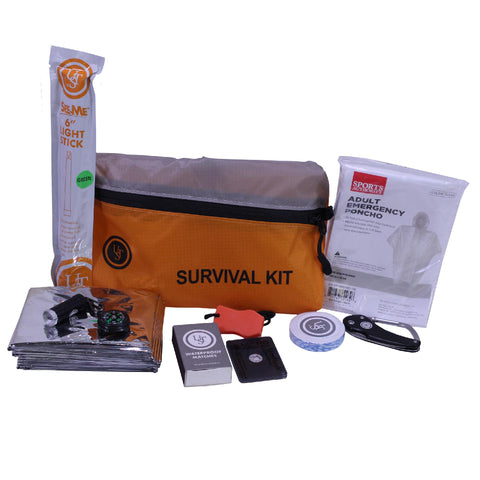 Survival Nerdz - FeatherLite Survival Kit Orange - 2.0, Personal Care,Ultimate Survival Technologies