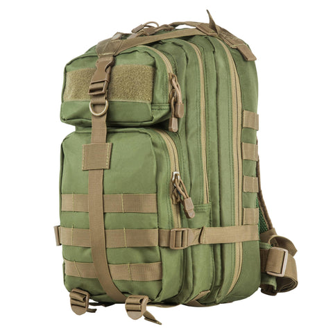 Survival Nerdz - Small Backpack - Green w-Tan Trim, Backpacks,NcStar