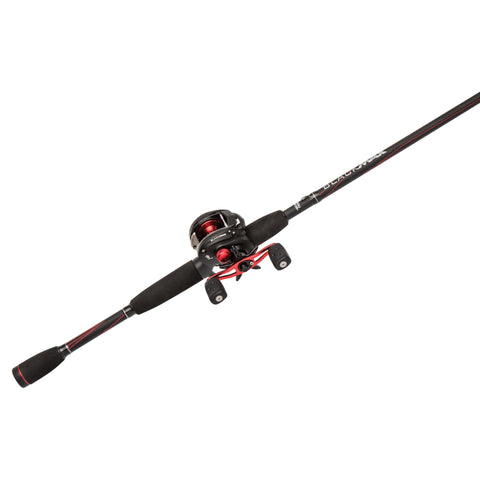 "Black Max Baitcast Low Profile Combo - 6.4:1 Gear Ratio. 5 Bearings, 6'6"" 2pc Rod, 8-15 lb Line Rate, Medium Power, RH"