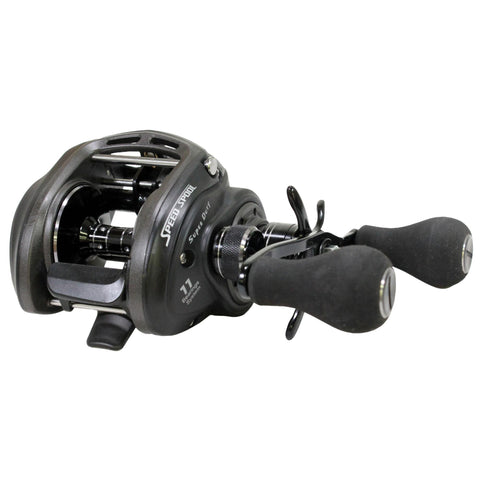 "SuperDuty Wide Speed Spool Casting Reel - 6.4:1 Gear Ratio, 11 Bearings, 28"" Retrieve Rate, 14 lb Max Drag, Right Hand"