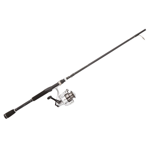 "Survival Nerdz - Silver Max Spinning Combo - 30, 5.1:1 Gear Ratio, 6'6"" Length, 1 Piece Rod, 6-12 lb Line Rate, Medium Power, Fishing,Abu Garcia"