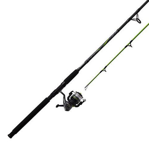 Survival Nerdz - Big Cat Spinning Combo - 5.0:1 Gear Ratio, 9' Length, 2pc Rod, 10-30 lb Line Rate, 1-4-3-4 oz Lure Rate, Fishing,Zebco / Quantum