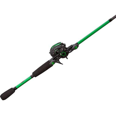 Survival Nerdz - Mach Baitcast Combo - 6.8:1 Gear Ratio, 10 Bearings, 6'10 1pc Rod, Medium-Heavy Power, Right Hand, Fishing,Lews Fishing