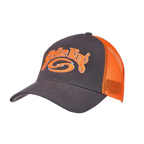 Survival Nerdz - Trucker Cap - Charcoal Body-Orange Neon Mesh, Clothing & Apparel,Strike King Lures