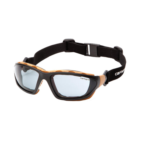 Survival Nerdz - Carhartt Carthage Safety Glasses - Gray Anti-Fog Lens with Black-Tan Frame, Eyewear,Pyramex Safety Products