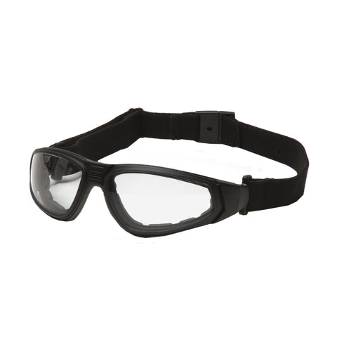 Survival Nerdz - XSG Safety Glasses - Clear Anti-Fog Lens with Black Strap-Temples, Eyewear,Pyramex Safety Products