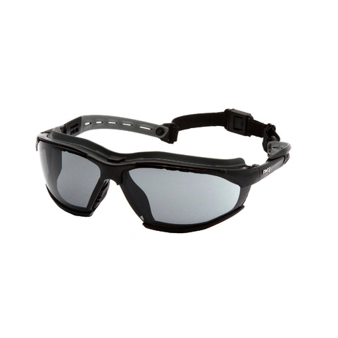 Survival Nerdz - Isotope Safety Glasses - Gray H2MAX Anti-Fog Lens with Black Frame, Eyewear,Pyramex Safety Products