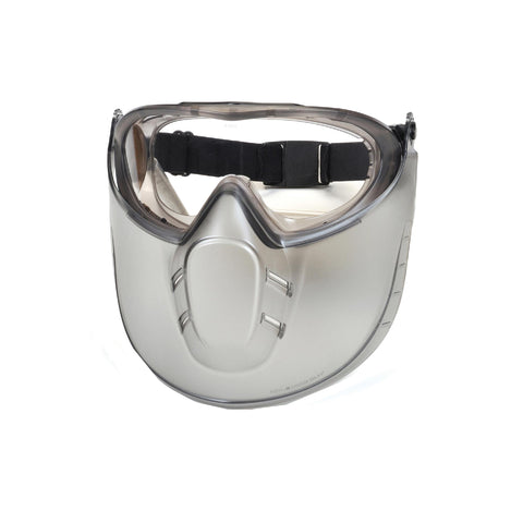 Survival Nerdz - Capstone - Shield, Clear Anti-Fog Lens with Face Shield, Eyewear,Pyramex Safety Products