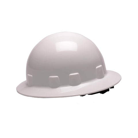 Survival Nerdz - SL Series Sleek Full Hard Hat, 4 Point Ratchet, White, Clothing & Apparel,Pyramex Safety Products