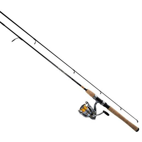 Crossfire Spinning Combo - 20 Reel Size, 4 Bearings, 6' Length, 2 Piece Medium-Light Power, Ambidextrous