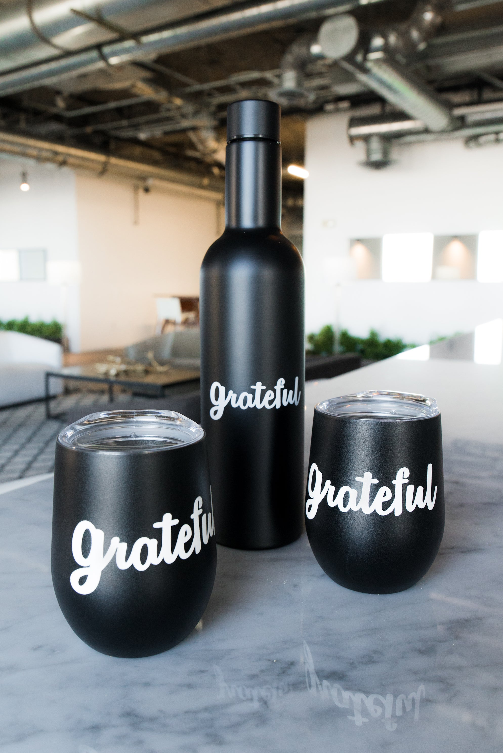 GRATEFUL BOTTLE - TUMBLER - TRIO