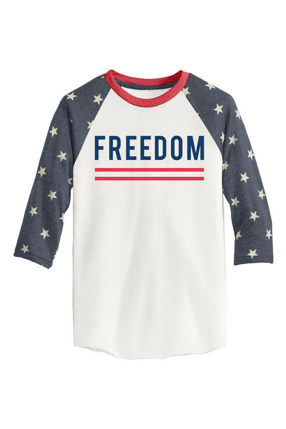 STARS & STRIPES FREEDOM BASEBALL TEE