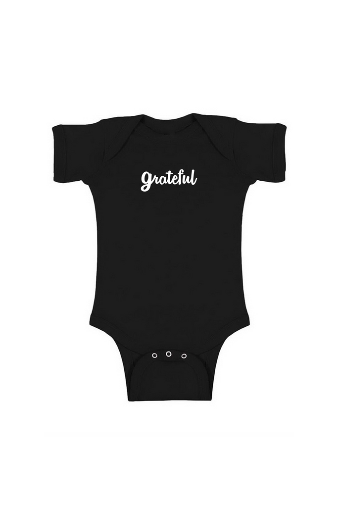 GRATEFUL INFANT BODYSUIT - BLACK
