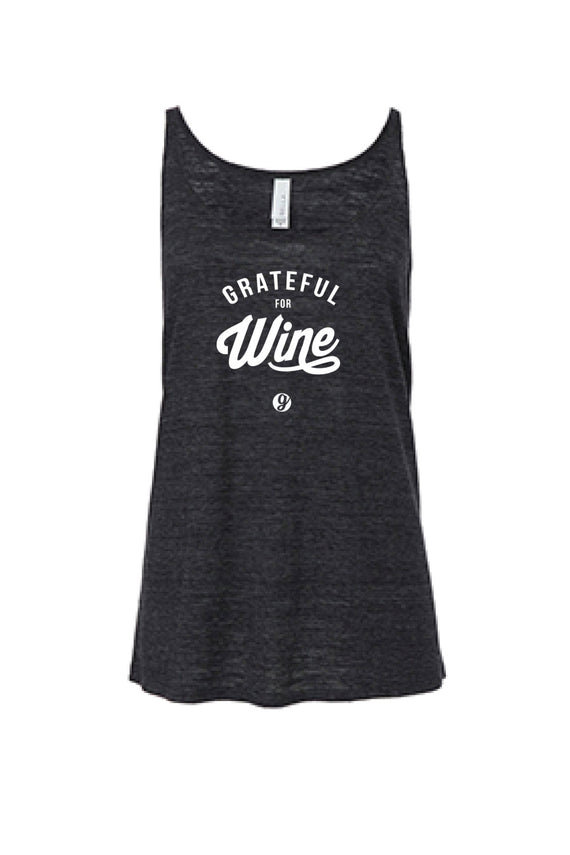 GRATEFUL FOR WINE WOMENS SLOUCHY TANK