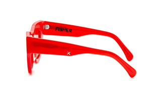 Load image into Gallery viewer, HARLEM SUNGLASSES - RED with RED LENSES